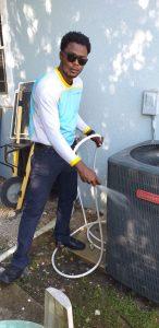 draining condensate